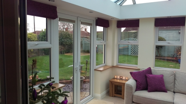 Roman blinds by Couture Windows