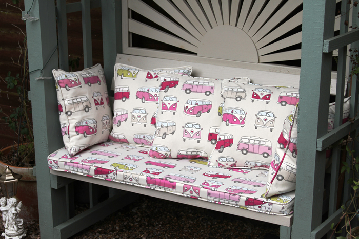 Seat cushions by Couture Windows