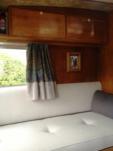 Boat upholstery & matching curtains by Couture Windows